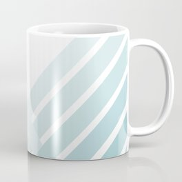Teal Ombre Stripes Coffee Mug