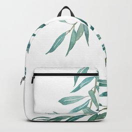 green olive leaf watercolor Backpack