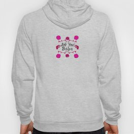 Pink floral 'Not Your Babe' Print Hoody