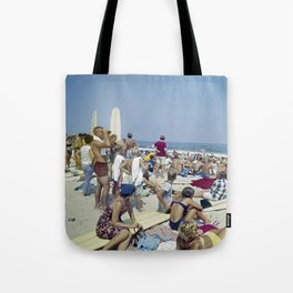 1970's Surfing Competition in Virginia Beach, VA Tote Bag