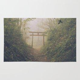 Shrine in Okunoin cemetery of Koyasan, Japan 002 Rug