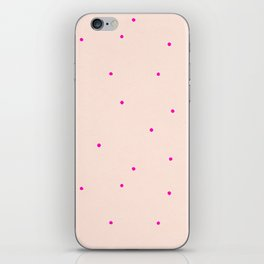 Pink dots iPhone Skin