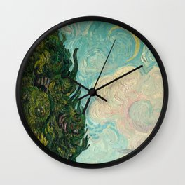 Cypresses - Van Gogh Wall Clock