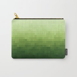 Gradient Pixel Green Carry-All Pouch