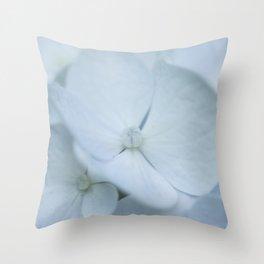 Soft blue bigleaf hydrangea Throw Pillow