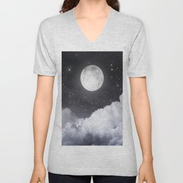 Touch of the moon II Unisex V-Neck