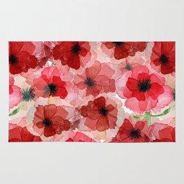 Pressed Poppy Blossom Pattern Rug