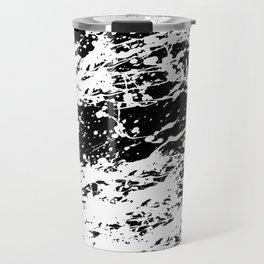 Black and White Paint Splatter Travel Mug