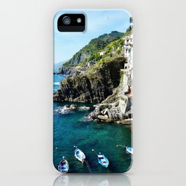 Riomaggiore Harbor iPhone Case