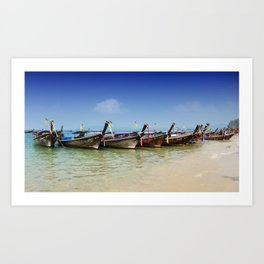 Boats in Thailand Art Print