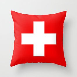 Flag of Switzerland 2x3 scale Throw Pillow