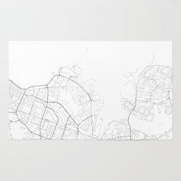 Reykjavik, Iceland Minimalist Map Rug