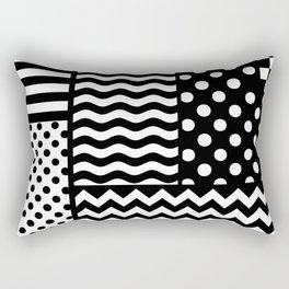 Mixed Patterns (Horizontal Stripes/Polka Dots/Wavy Stripes/Chevron/Checker) Rectangular Pillow