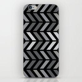 Chevron Black Gray iPhone Skin