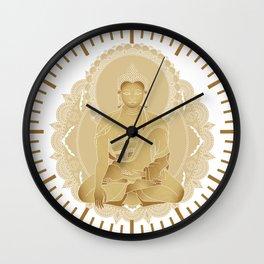 Gold buddha Wall Clock