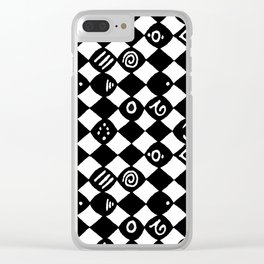 Jazz Harlequin Clear iPhone Case