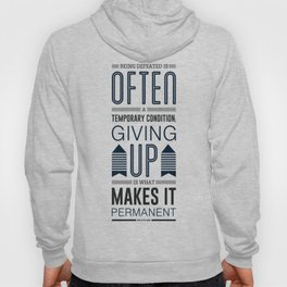 Lab No. 4 Being defeated is often a temporary condition Marilyn vos savant Quote poster Hoody