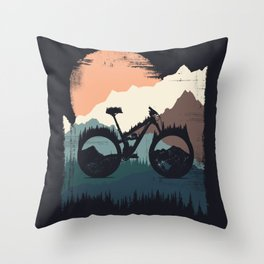 Yety Enduro Throw Pillow