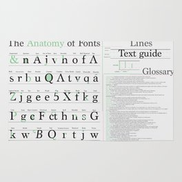 Anatomy of Fonts Rug