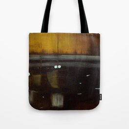 Nocturne in Black, Gold and Silver - Woodley Island Marina Tote Bag