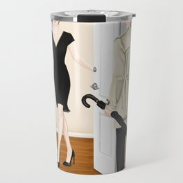 the steaks are at stake Travel Mug
