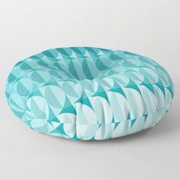 Leaves in the moonlight - a pattern in teal Floor Pillow