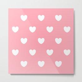 Pink Heart Metal Print