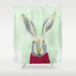 Warm Bunny Shower Curtain