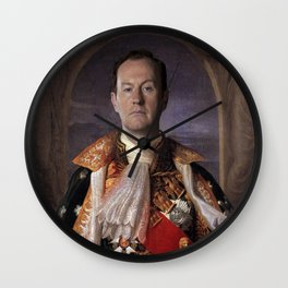 The current King of England- Mycroft Holmes Wall Clock