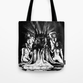 Evil King on Throne Tote Bag