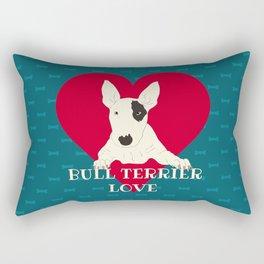 Bull Terrier Love Rectangular Pillow