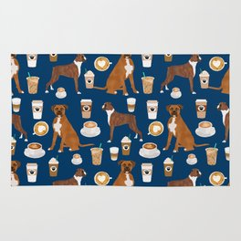 Boxer dog breed coffee pet gifts boxers pupuccino Rug