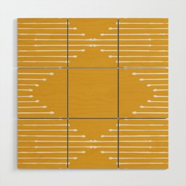 Geo / Yellow Wood Wall Art