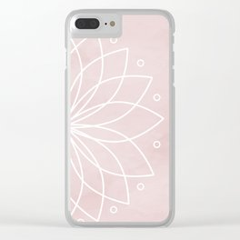Mandala on Pink Watercolor Background Clear iPhone Case