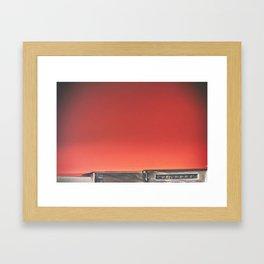 red hues Framed Art Print