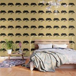Black wolf totem Wallpaper