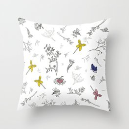Flower passion Throw Pillow