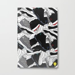 Jordan XI's Metal Print