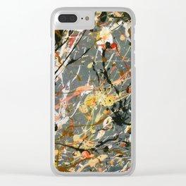 Jackson Pollock Interpretation Acrylics On Canvas Splash Drip Action Painting Clear iPhone Case