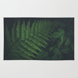 Dark and beautiful Fern in the Forest Rug
