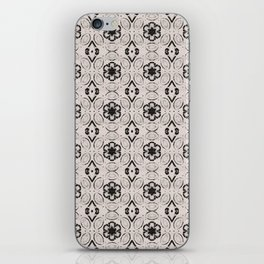 Bridal Blush Floral Geometric Pattern iPhone Skin
