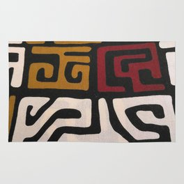 African Mudcloth Print Rug