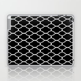 Black & White Moroccan Quatrefoil Design Laptop & iPad Skin