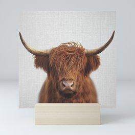 Highland Cow - Colorful Mini Art Print