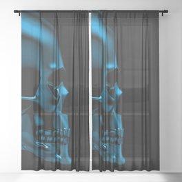 Glass skull Sheer Curtain