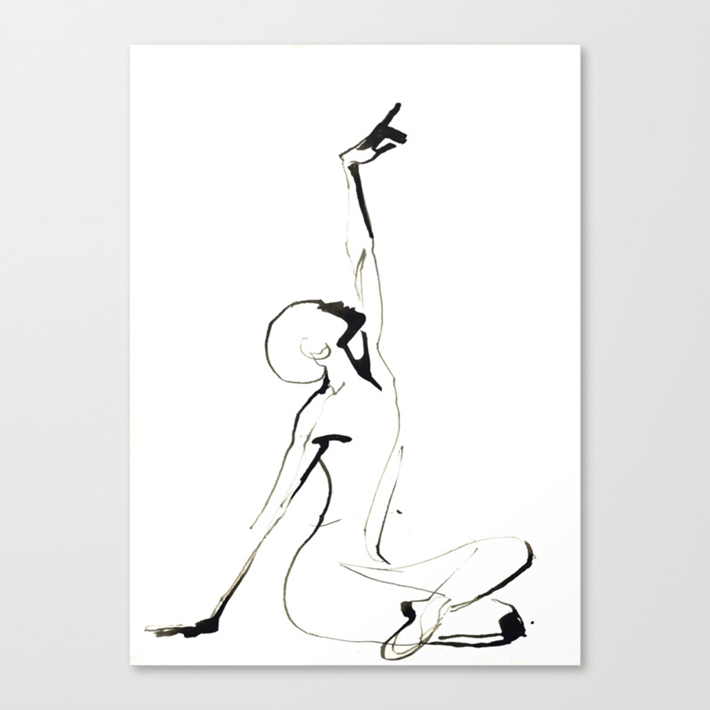 India Ink Dance Drawing Canvas Print by Catarinagarciaart CNV9008123