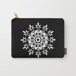 Snowflake Medallion B&W Carry-All Pouch
