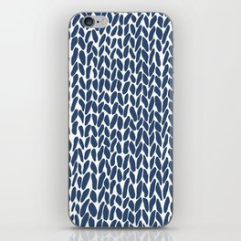 Hand Knit Zoom Navy iPhone Skin