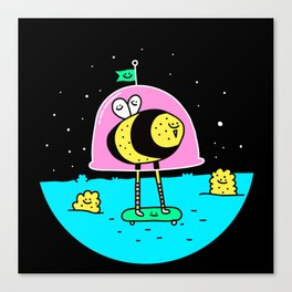 Space Bee World Canvas Print