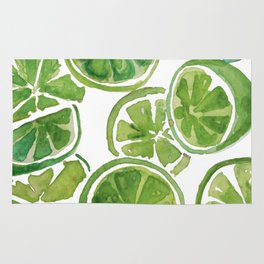 Watercolor LIMES Rug